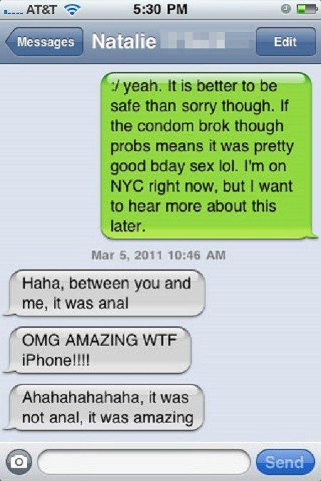 It Was Amazing - Funny Text Message Fail - SMS