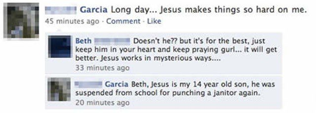 Jesus Makes Things So Hard - Funny Facebook Post