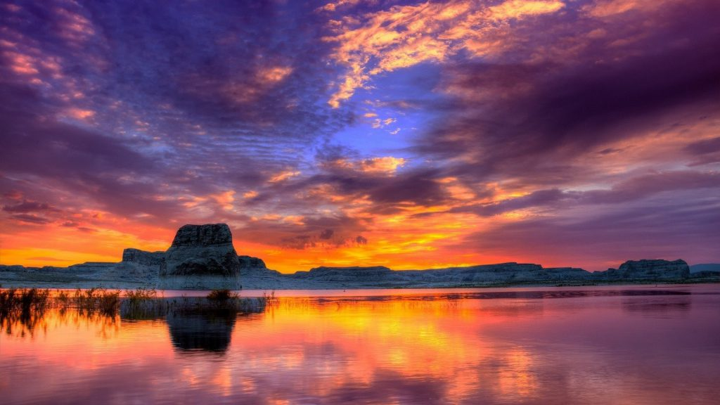 Sunset Over Water Wallpaper - Desktop Background