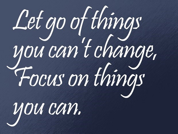 let go of things
