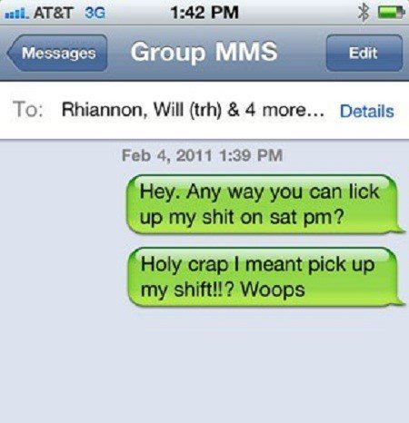 Pick Up My Shift - Funny SMS Fail