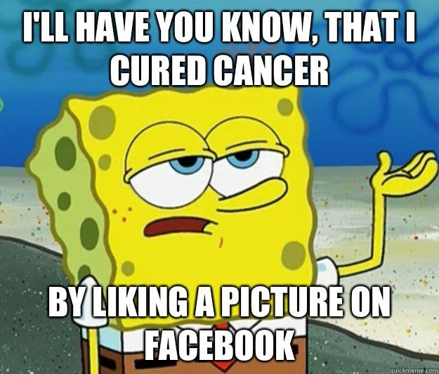 Cured Cancer By Liking A Picture On Facebook