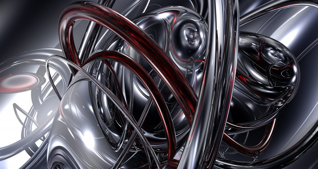 Abstract Liquid Metal Wallpaper