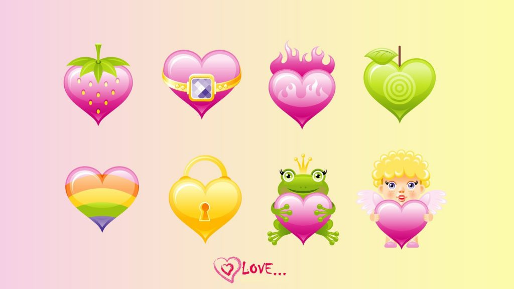 Hearts And Love - Cute Wallpaper