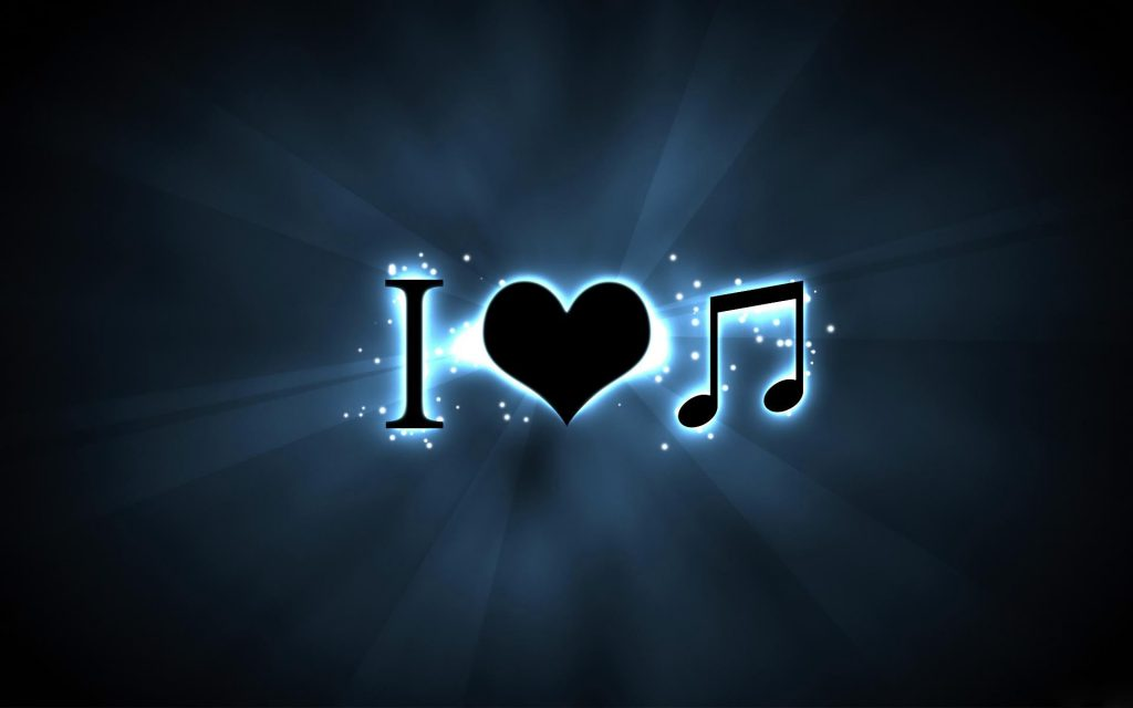 I Love Music - hd tablet wallpaper - written in symbols - i heart music note