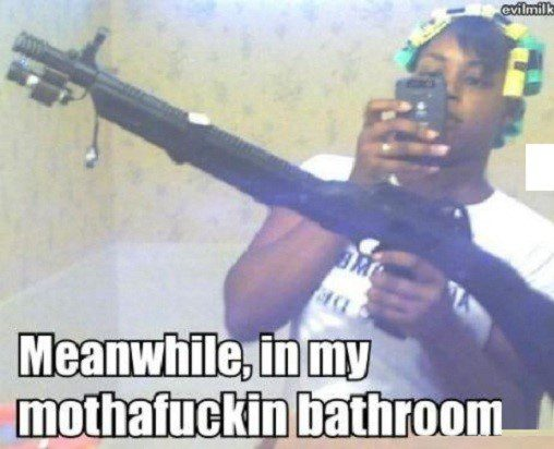 Meanwhile In My Bathroom - Hilarious caption photo