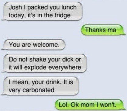 Don't Shake Your Drink - Funny Text Message Fail - SMS Fail