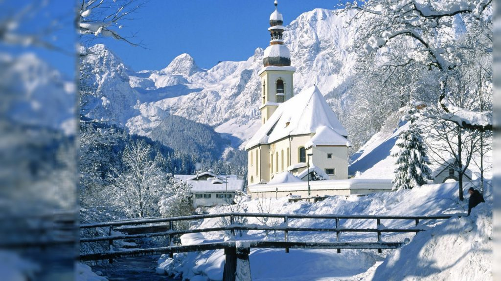 Snowy Church In The Winter - winter wallpaper background