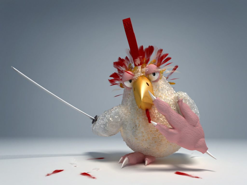 Karate Chicken - Funny Wallpaper