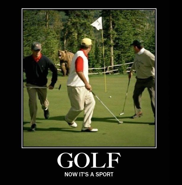 Golf: Now It's A Sport - really funny picture meme