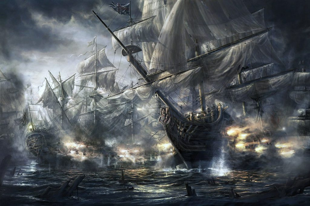 Pirate Ships Wallpaper Background