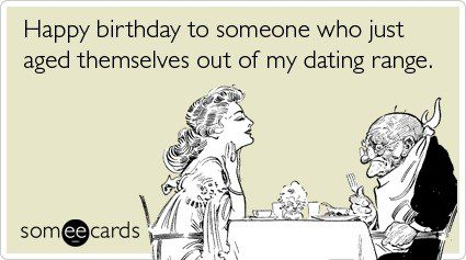 Aged Out Of My Dating Range - Funny Birthday E-Card