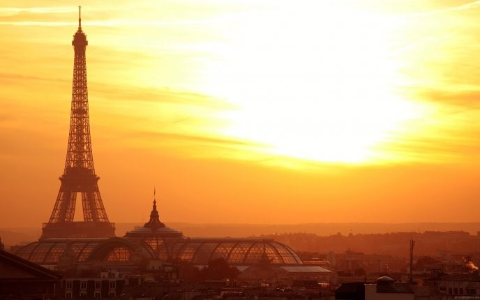 Foggy Paris Sunrise Wallpaper - hd tablet wallpaper background