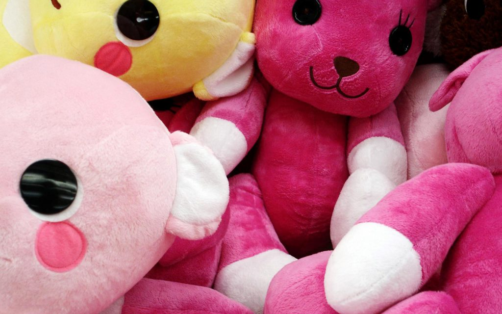 Pink Teddy Bears Wallpaper