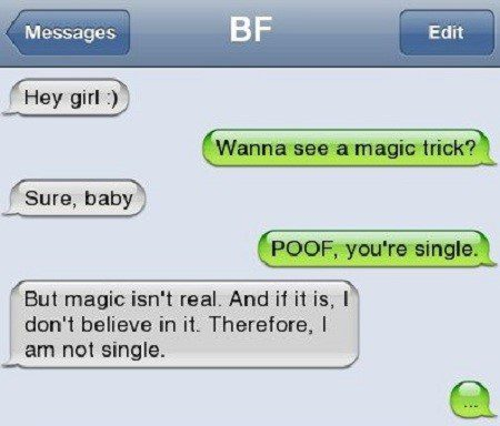 Wanna See A Magic Trick - Funny Text Message