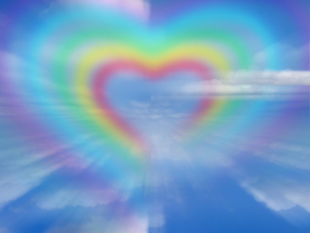 Rainbow Heart In The Sky Wallpaper Background