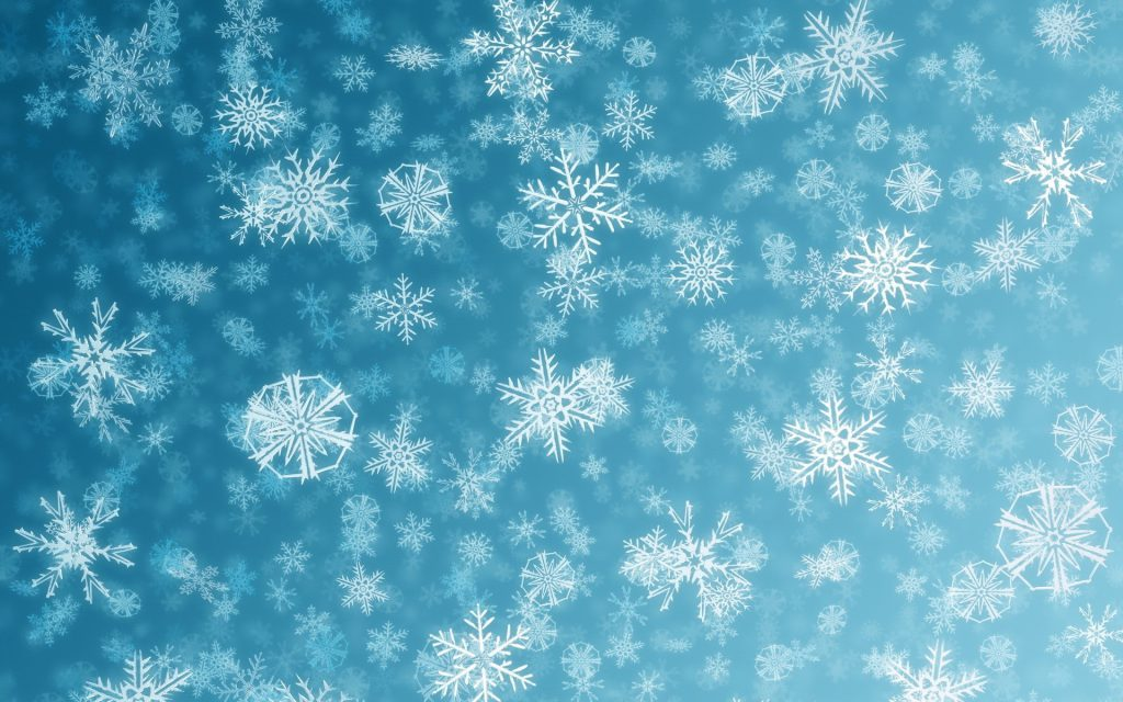 drawn snowflakes blue background wallpaper