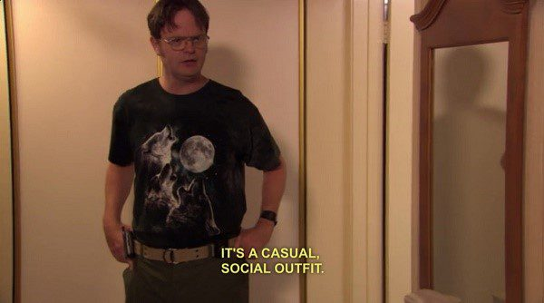A Casual Social Outfit - Dwight Schrute Meme - The Office Meme