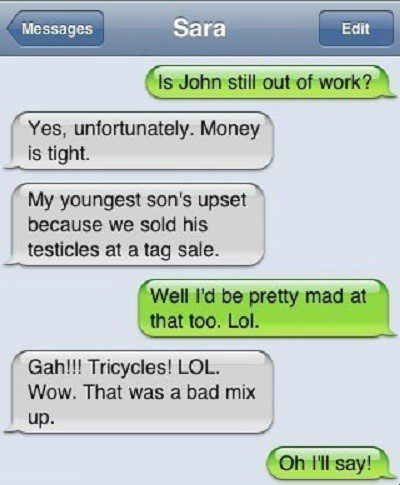 Is John Out Of Work? - Funny Text Message - SMS