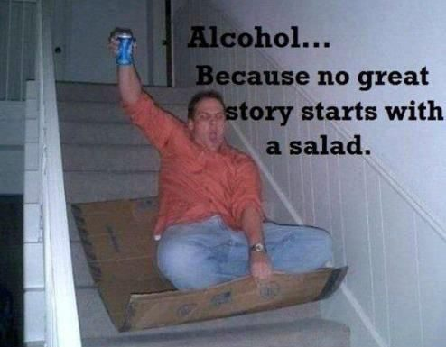 No Great Story Starts With A Salad - really funny picture