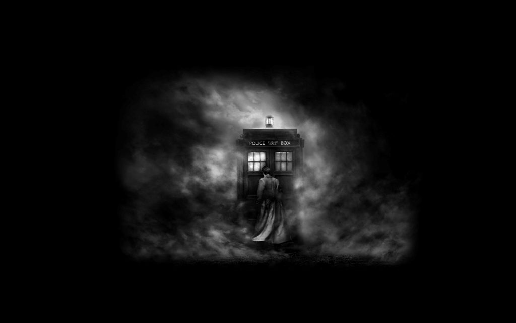 Black And White Tardis Wallpaper - doctor who background