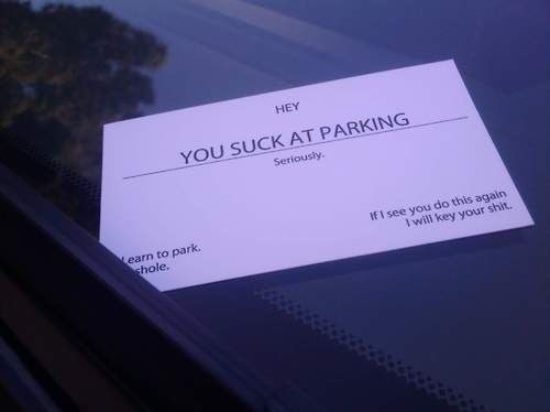 You Suck At Parking - Funny Photo