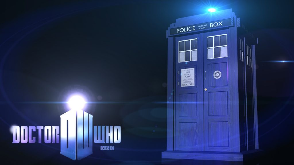 Tardis And Logo - Doctor Who Background