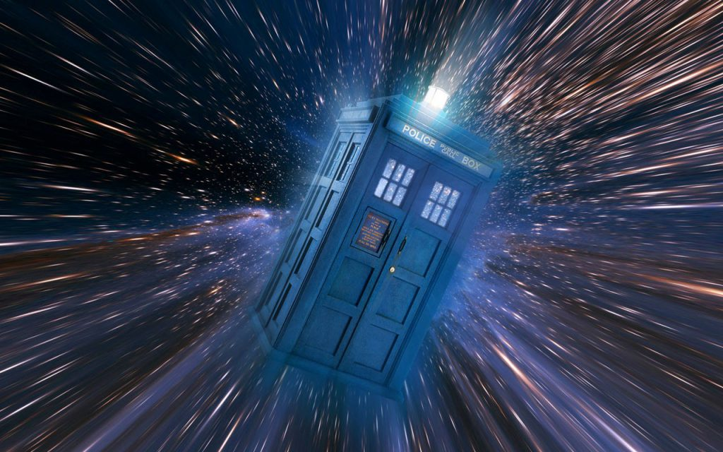 Tardis Moving Through Time - Wallpaper Background