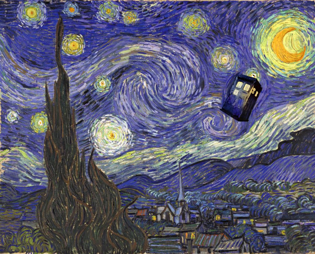 Van Gogh Tardis - Doctor Who Wallpaper Background