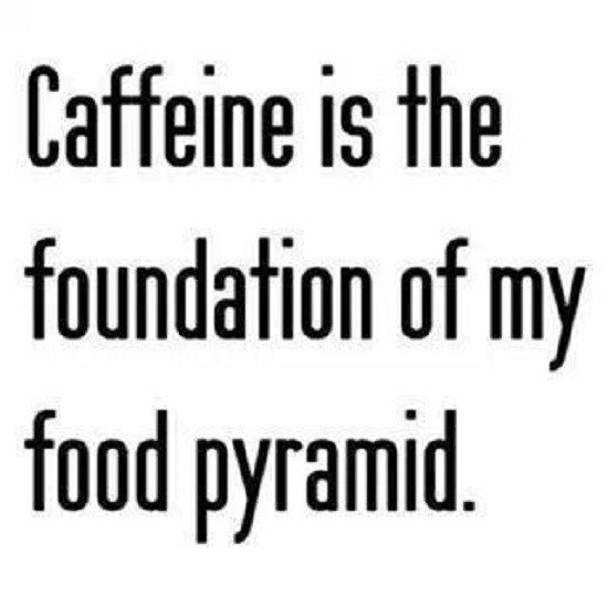 Caffeine Is The Foundation Of My Food Pyramid - coffee quote