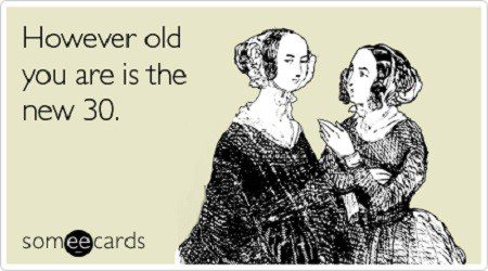 However Old You Are Is The New 30 - Funny Birthday E-Card