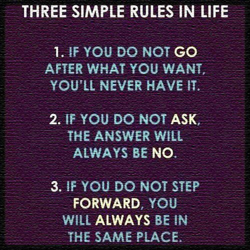 Three Simple Rules - moving on quote