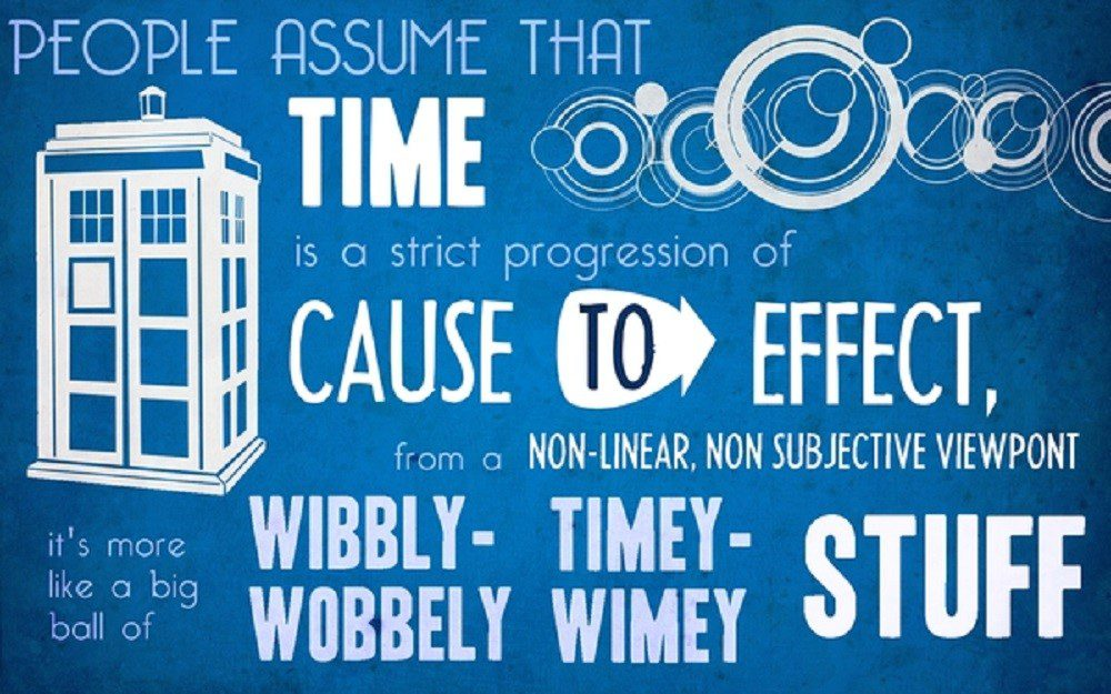 The Timey Wimey Stuff - Dr. Who Background Wallpaper