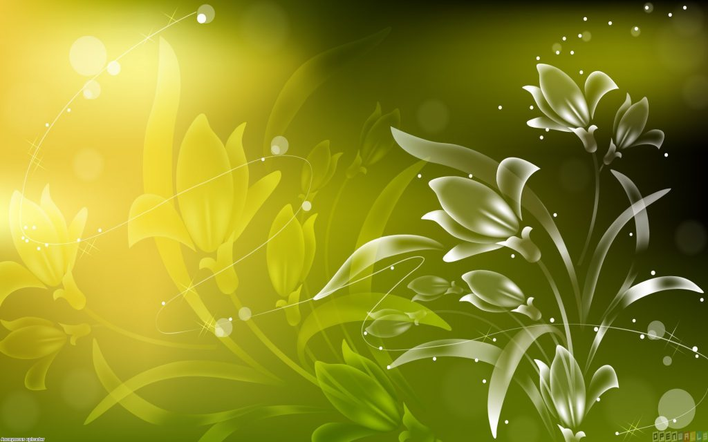 Amazing Green And White Abstract Wallpaper