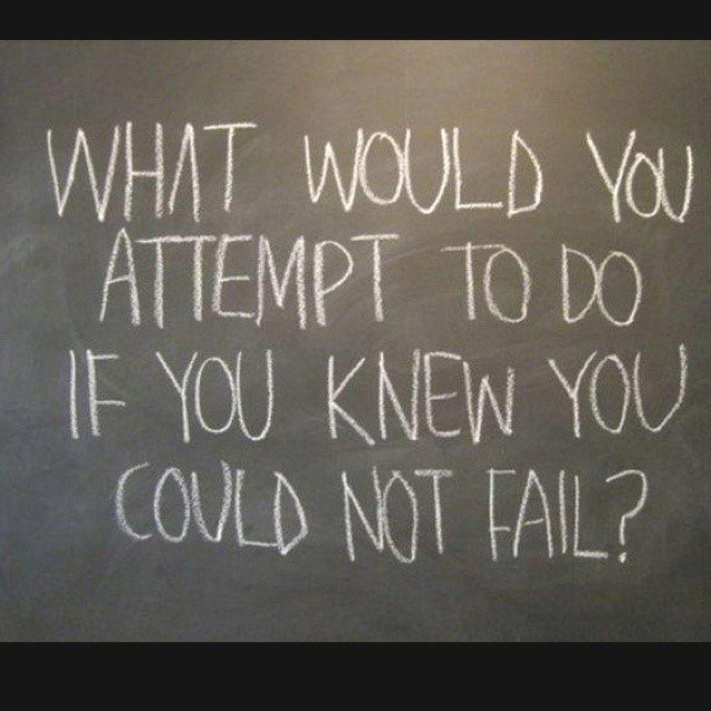 What Would You Attempt To Do If You Knew You Could Not Fail? - Uplifting Quote