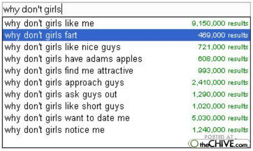 Why Don't Girls - Funny Google Search Suggestion