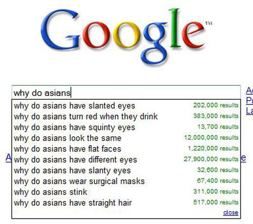 Why Are Asians - Funny Google Search Suggestions