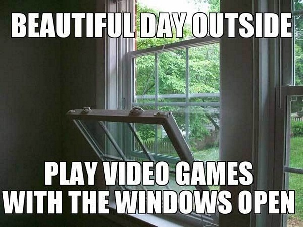 with the windows open