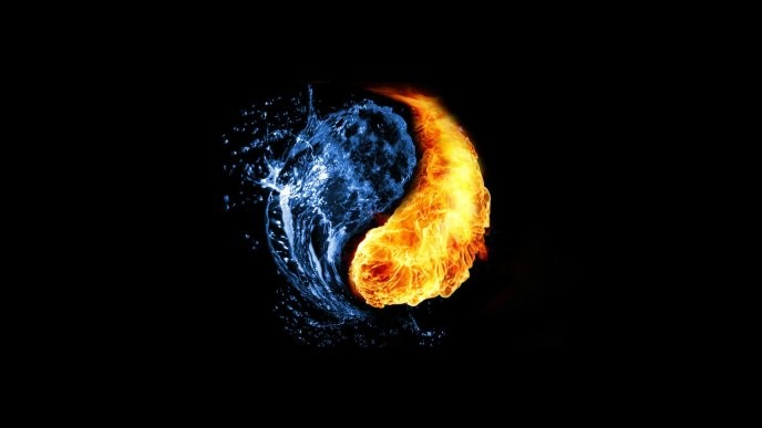 Yin And Yang - Fire And Ice - HD tablet wallpaper background