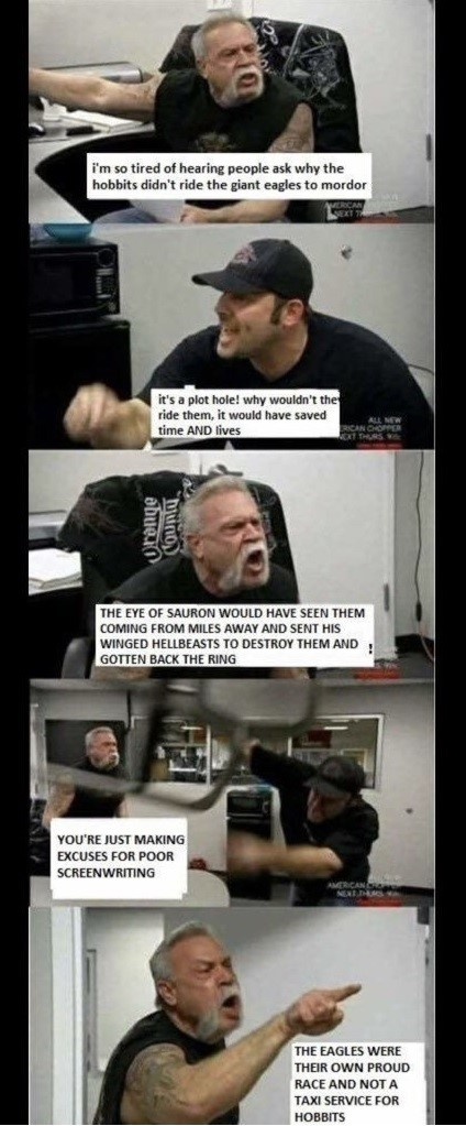 American Chopper Argument Meme - Lord Of The Rings - The Hobbit