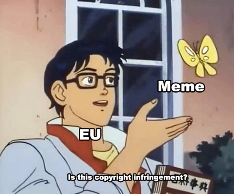 Is This A Pigeon Meme - Eurpe EU Meme Ban
