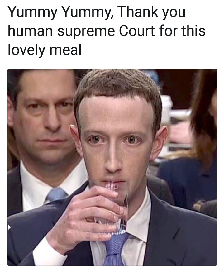 Mark Zuckerberg Congress Meme - Lizard - Robot - Court