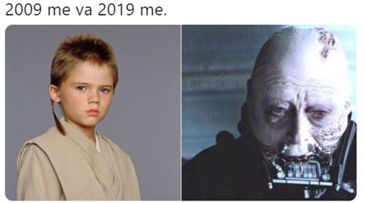 10 Year Challenge Anakin Skywalker Edition