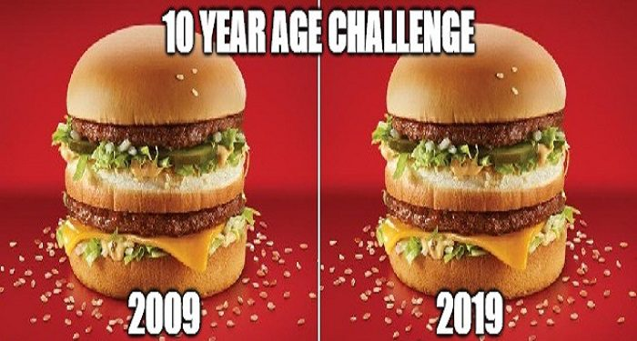 10 Year Challenge Big Mac