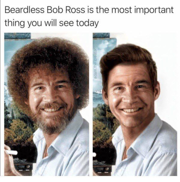 Beardless Bob Ross