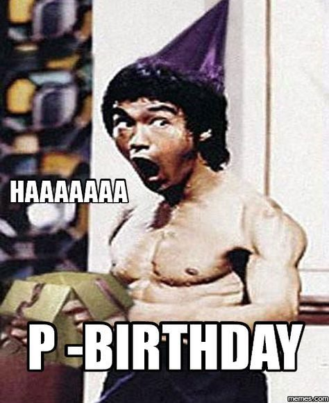 Bruce Lee Birthday Meme