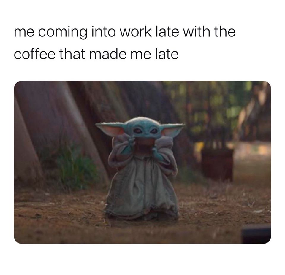 Coming To Work With The Coffee That Made Me Late
