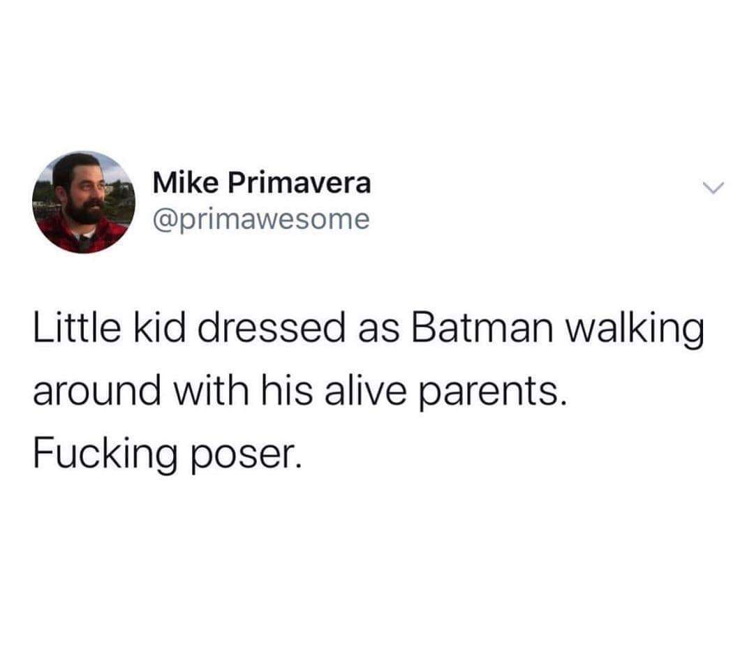 Little Kid Walking Around As Batman
