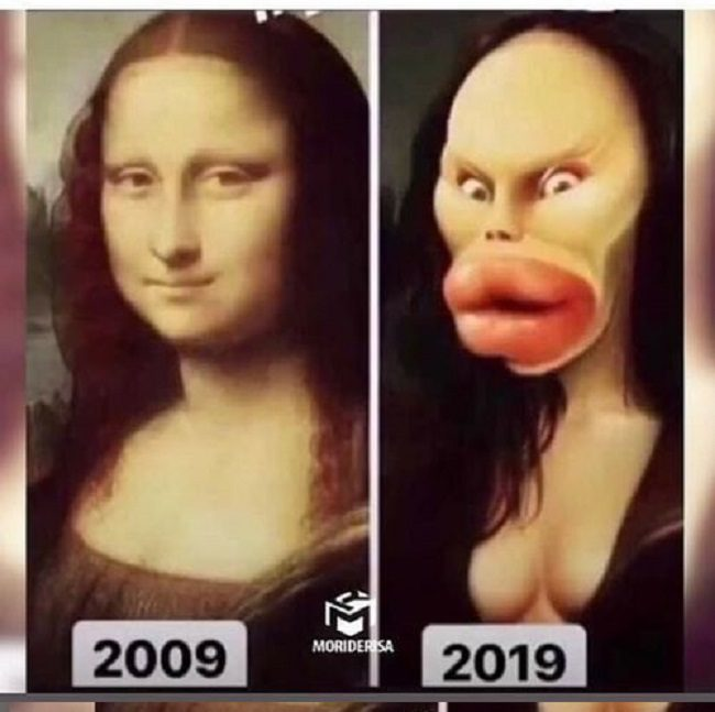 Mona Lisa 10 Year Challenge