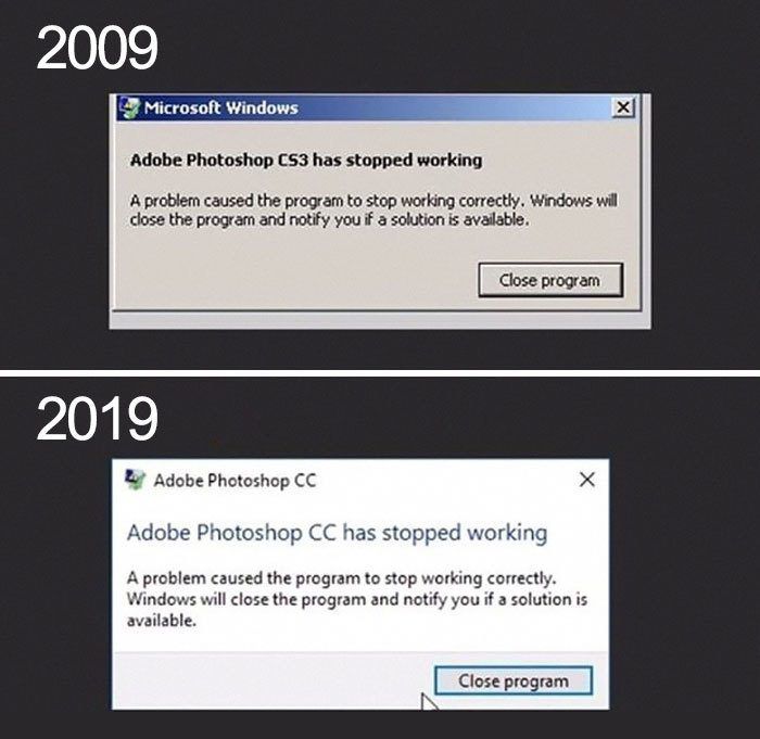 Photoshop 10 Year Challenge